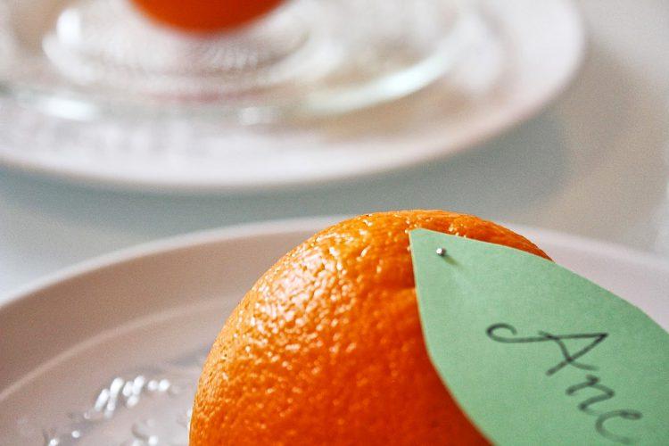 Appelsin-bordkort