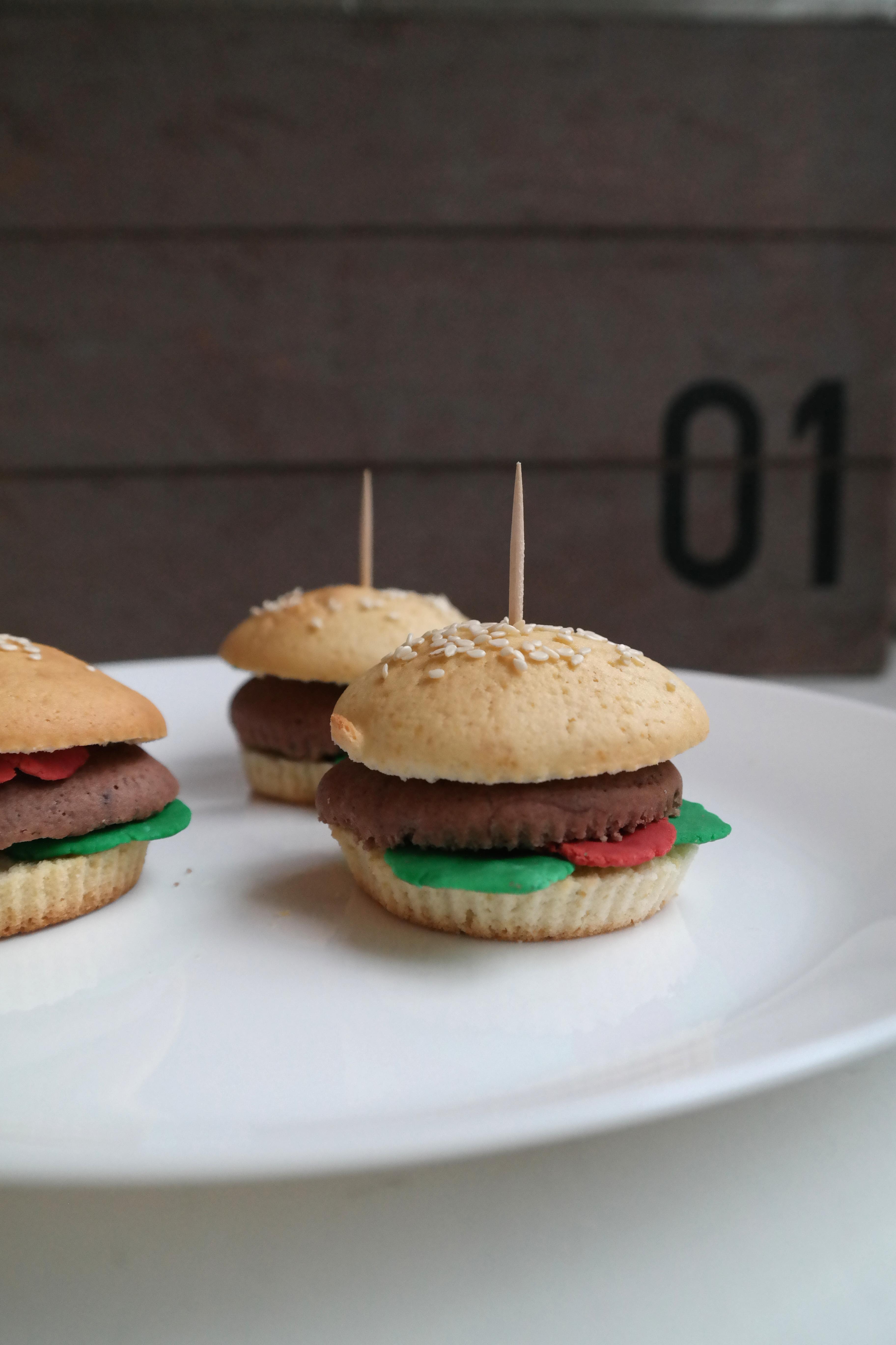 Kreative Burger-Muffins