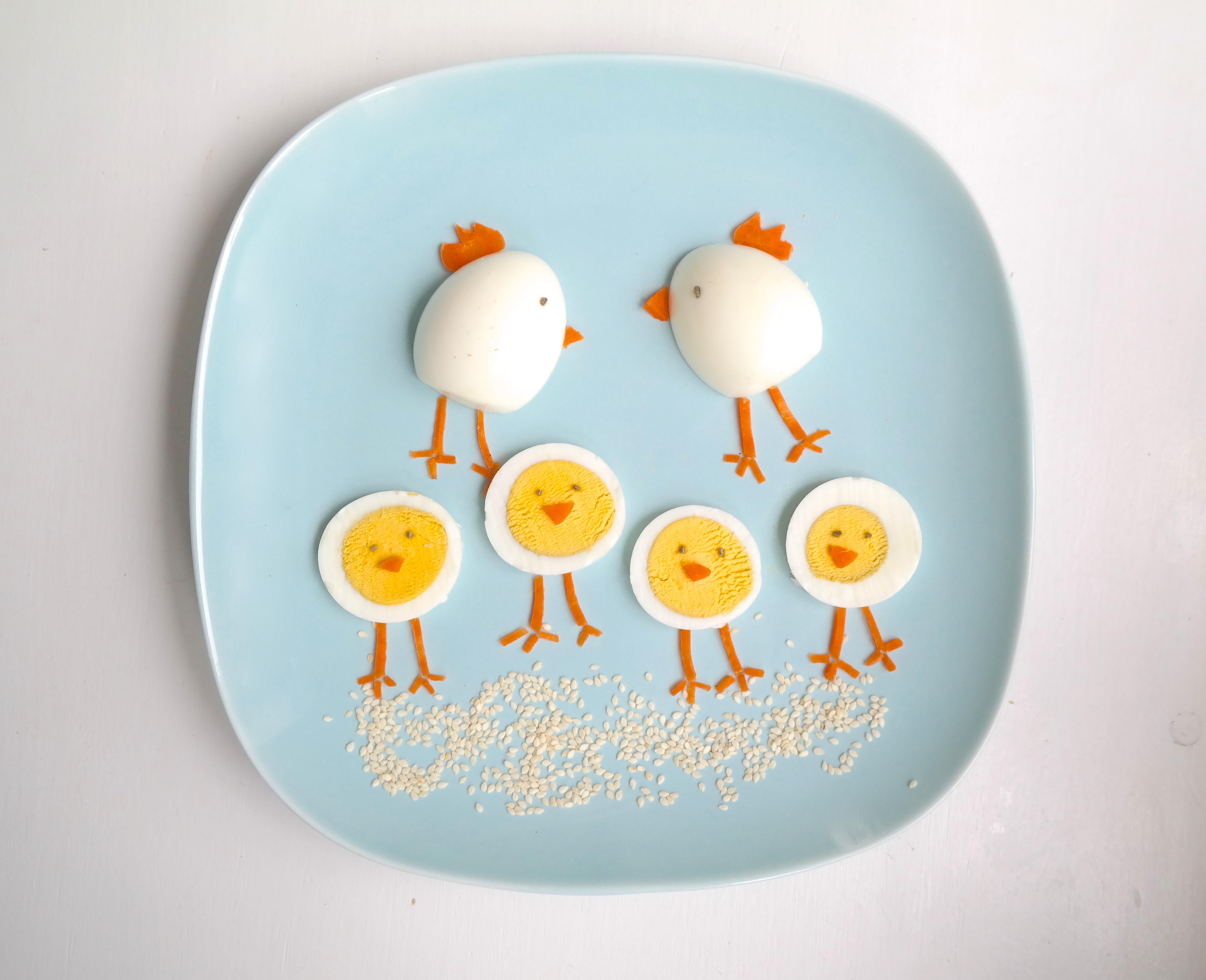 Påskekyllinger av egg