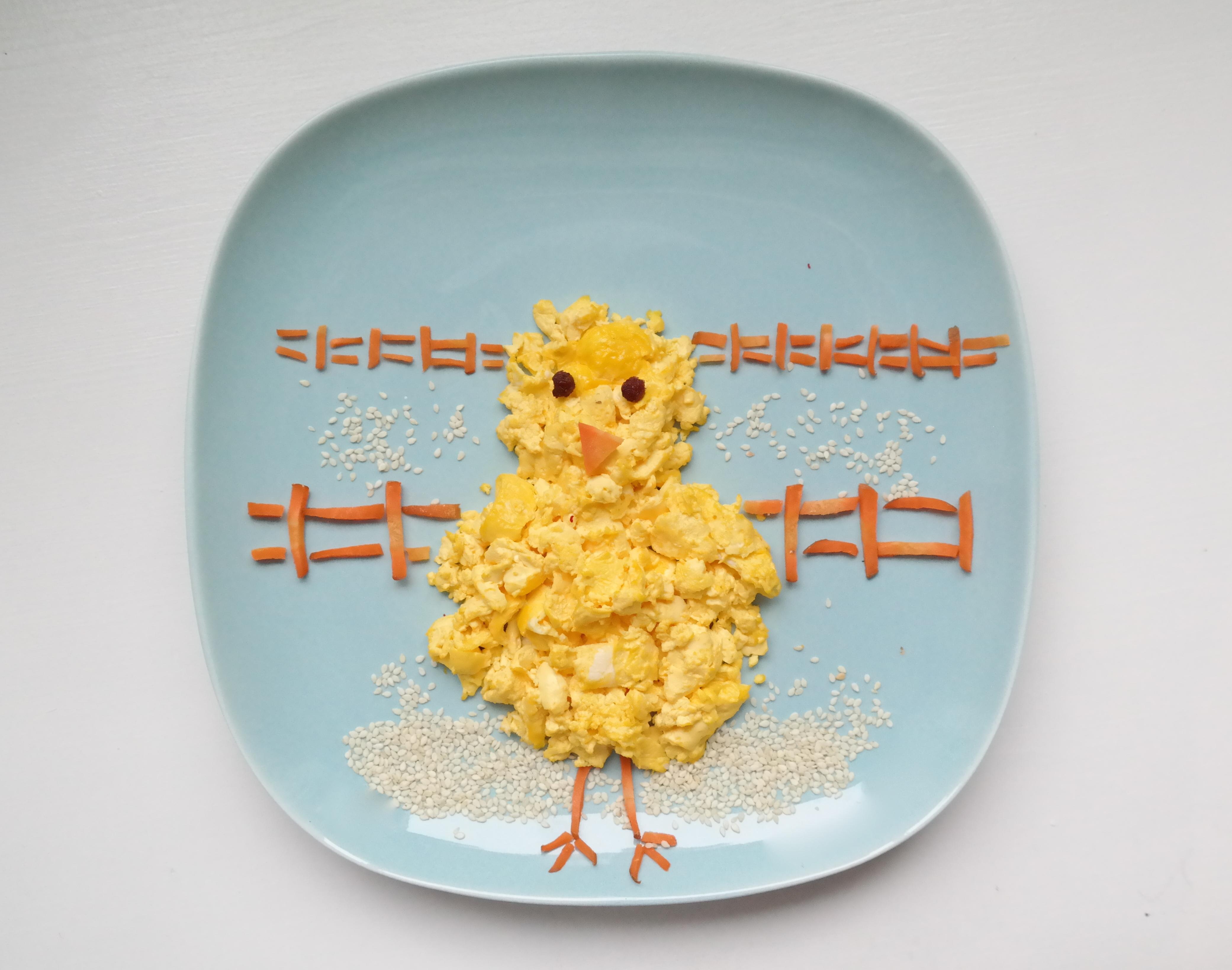 Påskekylling av eggerøre