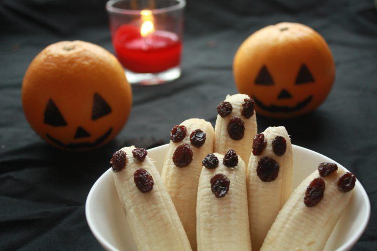 Spøkelsesbananer- sunn snack til Halloween