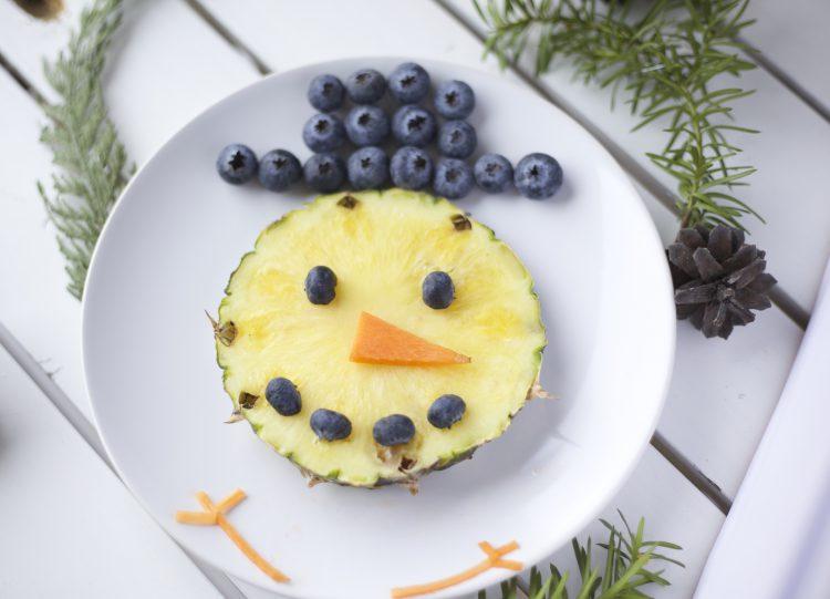 Kreativ frukt i julen