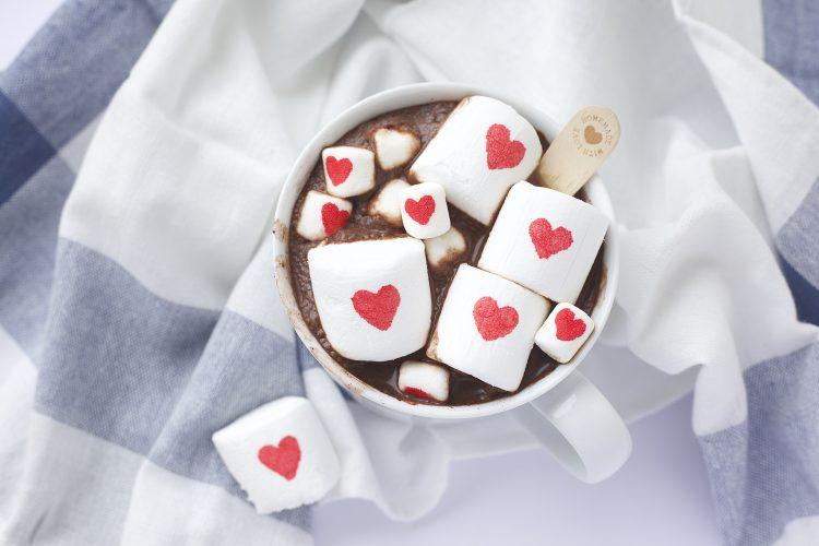 En kopp med kjærlighet- Hjerte marshmallows
