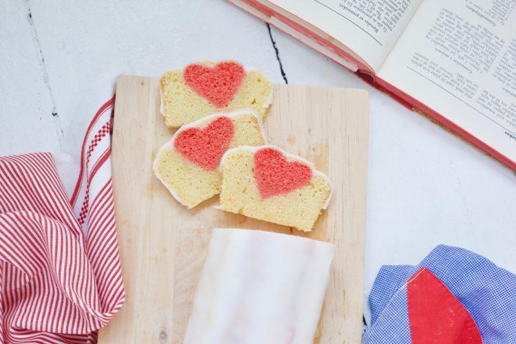 Sitronkake med skjult hjerte