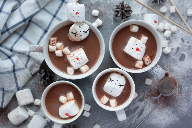 Snømenn-marshmallows