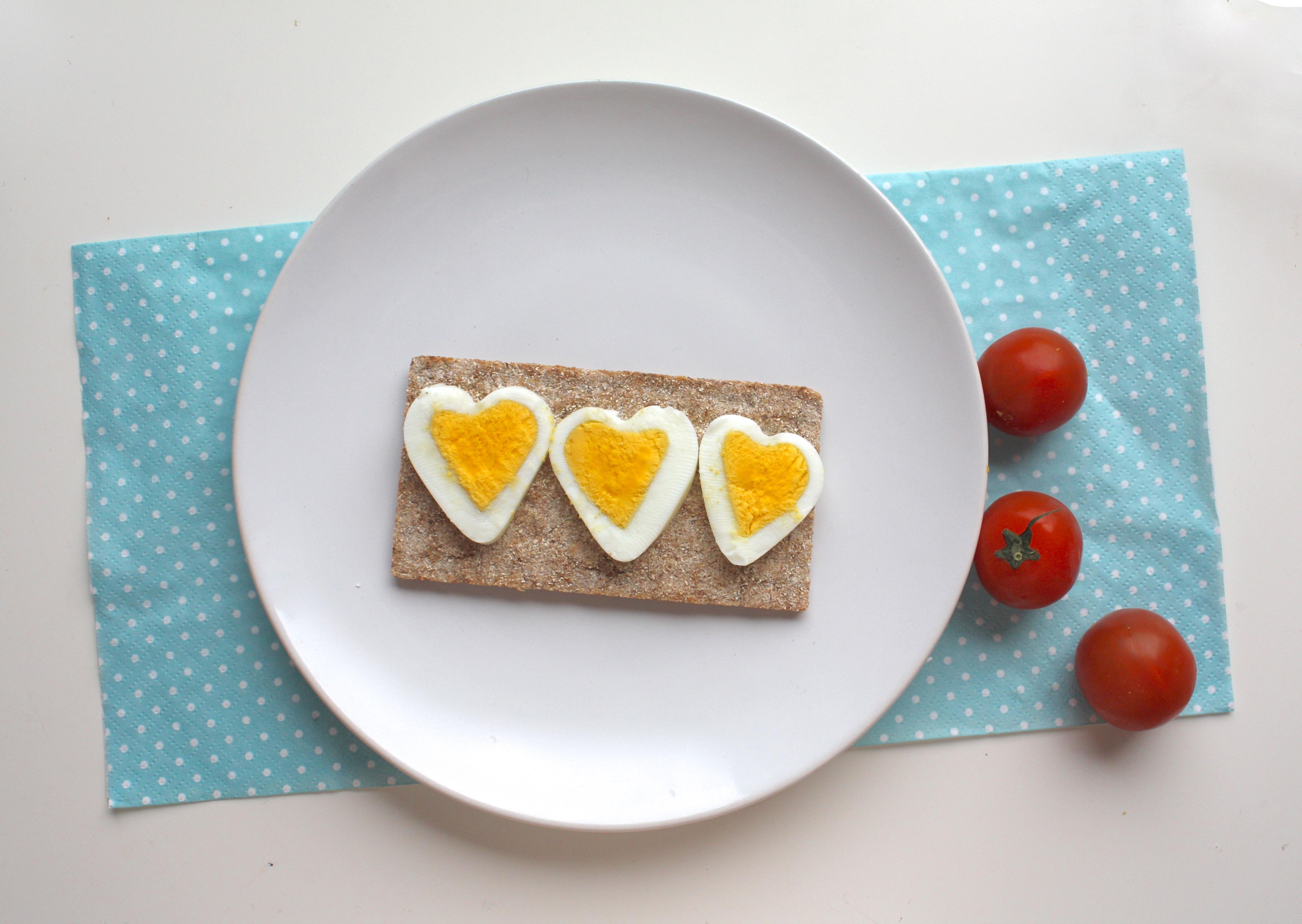 Hjerteformet egg