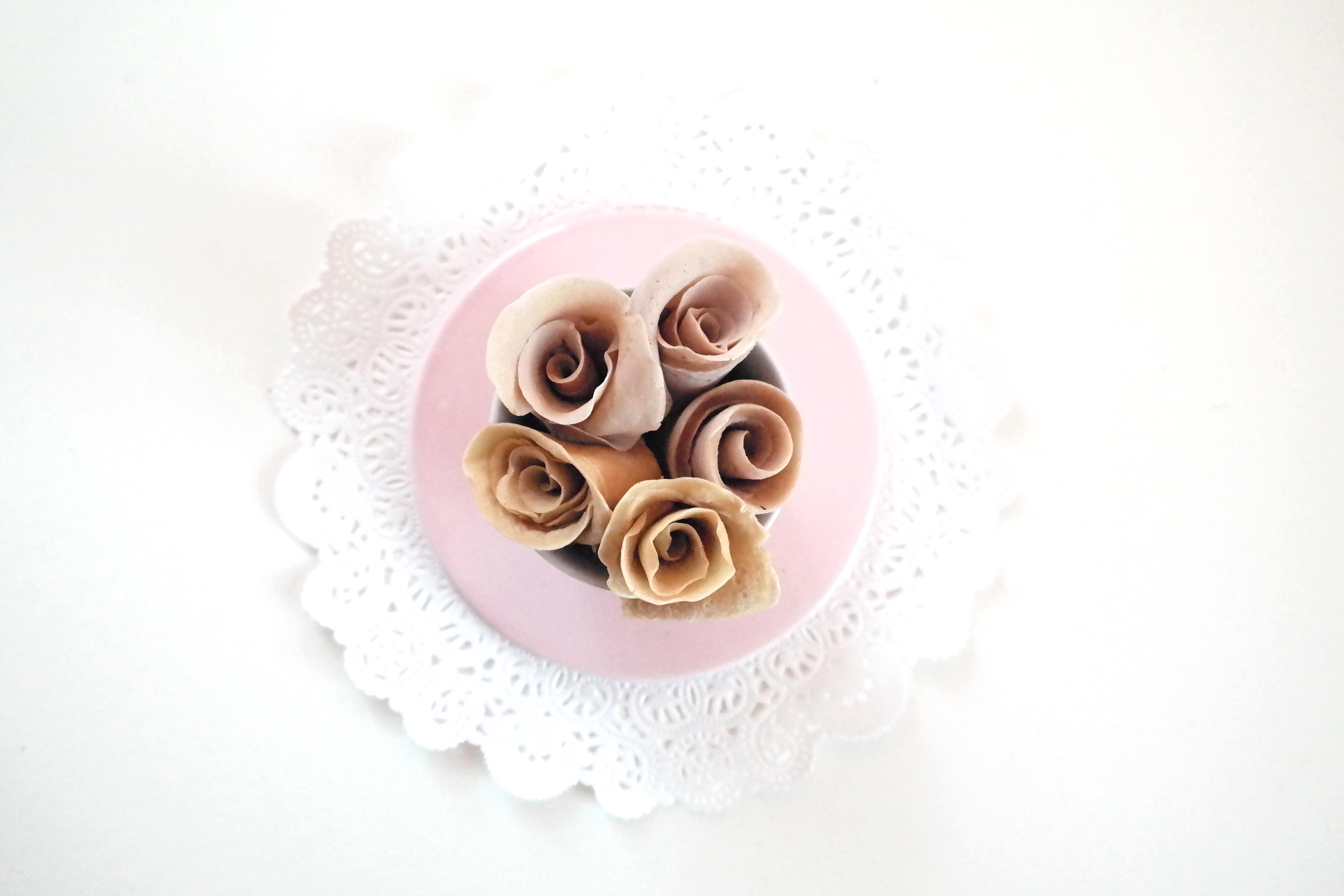 Rosebukett av pannekaker