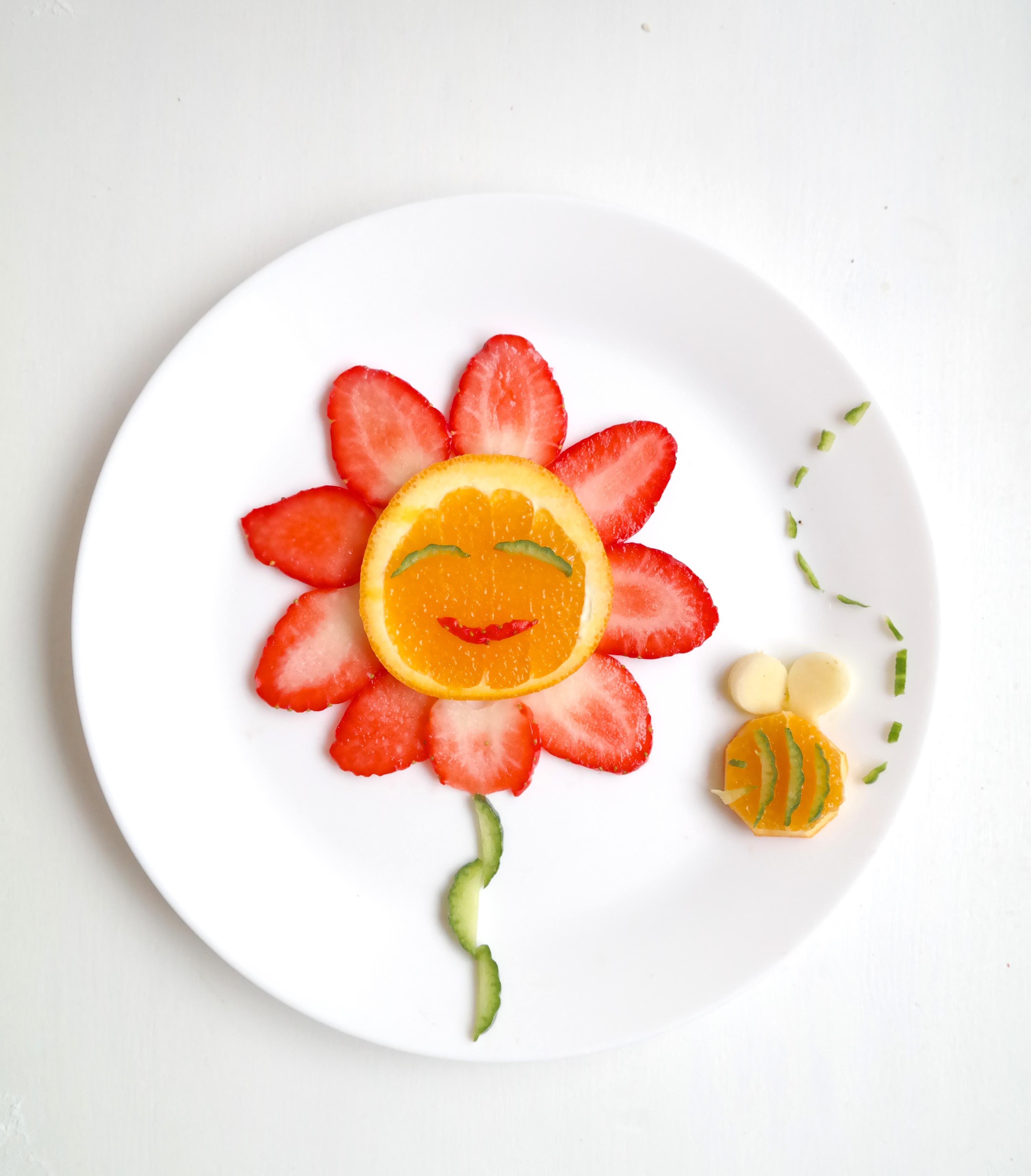 Appelsin og Jordbær Blomst