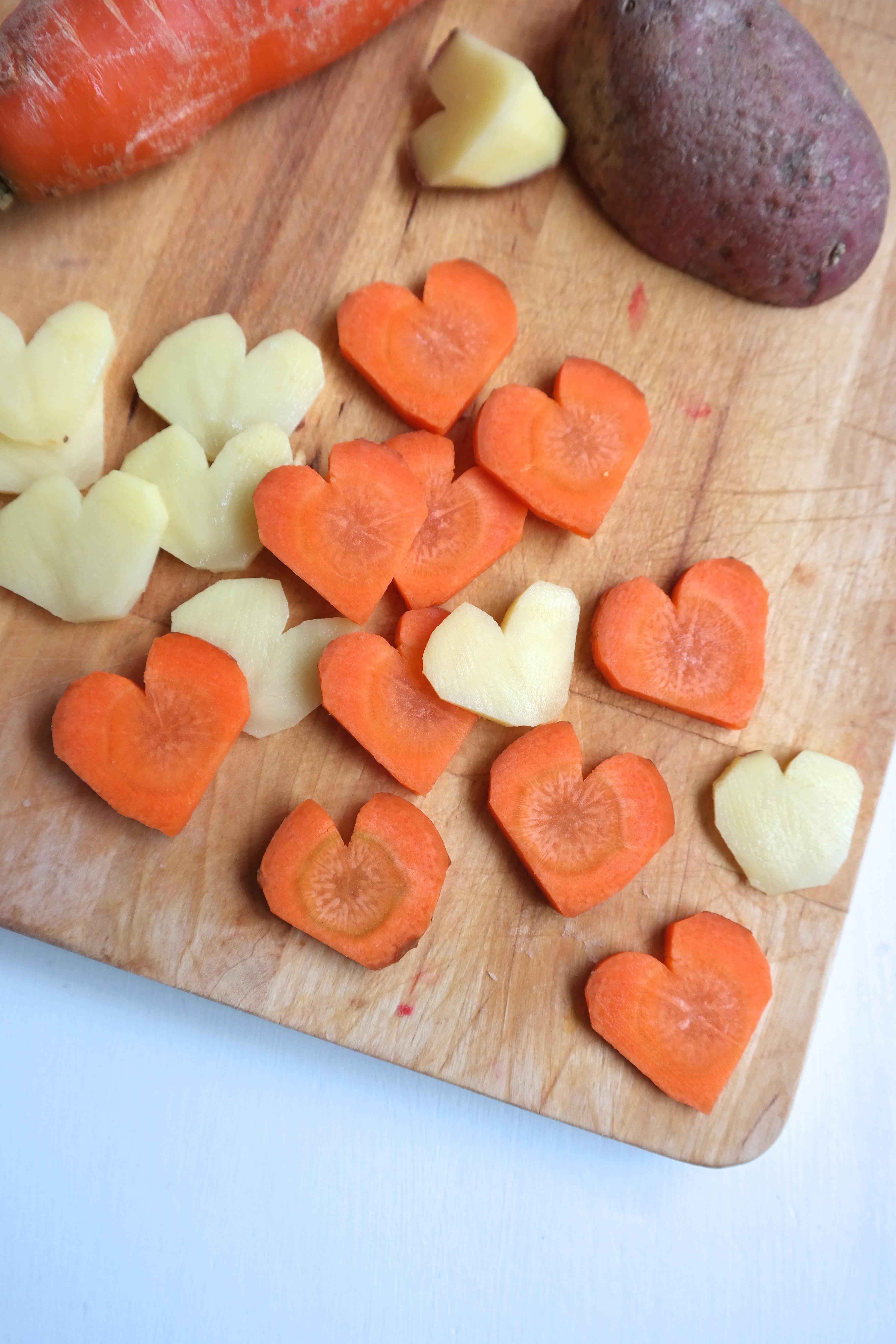 Hjerteformet grønnsaker