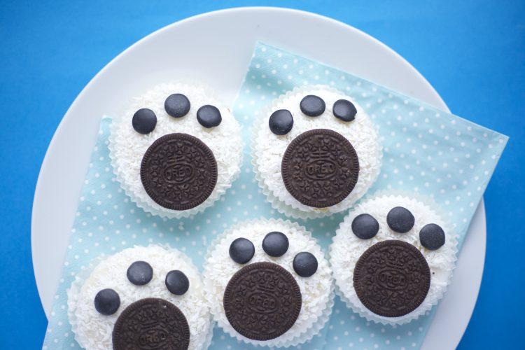Isbjørn fotavtrykk-muffins