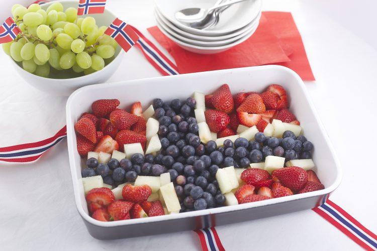 Kreativ 17.mai frukt og grønt