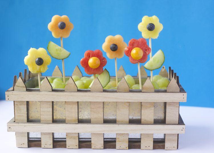 Kreative spiselige blomster
