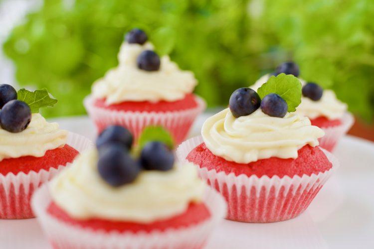 17.mai Muffins- i «Rødt, hvitt og blått»